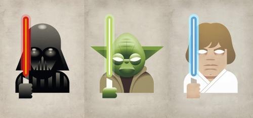 Darth Vader, Yoda, Luke