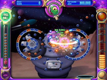 Space Blast screen from Peggle