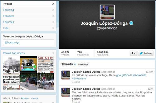 Lopez Doriga Twitt