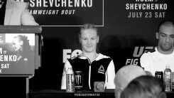 Chicago, Illinois, July 23, 2016 - Valentina Shevchenko at the Holm vs Shevchenko post fight press conference (Photo by Juan Cardenas)