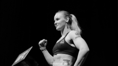 Valentina Shevchenko at the Fight Night Holm vs Shevchenko weigh ins on July 22, 2016 (Photo by Juan Cardenas)