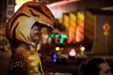 Kid dino - Las Vegas Halloween 2017 at Fremont Street, by Juan Cardenas @desautomatas