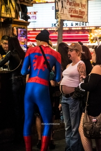 Spiderman and friend - Las Vegas Halloween 2017 at Fremont Street, by Juan Cardenas @desautomatas