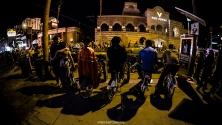 Bicycle first row - Las Vegas Halloween 2017 at Fremont Street, by Juan Cardenas @desautomatas