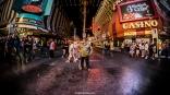 Fidel Castro watches Fremont Street - Las Vegas Halloween 2017 at Fremont Street, by Juan Cardenas @desautomatas